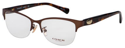 Coach Eyeglasses HC 5066 9155 53 Satin Brown/Dark Tortoise Frame [53-16-135]