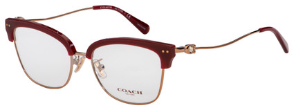 Coach Eyeglasses HC 5104B 9331 53 Burgundy/Rose Gold Frame [53-17-140]