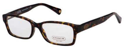 Coach Brooklyn Eyeglasses HC 6040 5001 52 Dark Tortoise Frame [52-16-135]