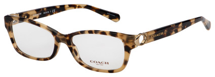 Coach Eyeglasses HC 6119 5576 53 Brown Tortoise Frame [53-16-140]