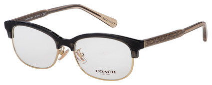 Coach Eyeglasses HC 6144 5566 53 Transparent Dark Grey Frame [53-16-140]