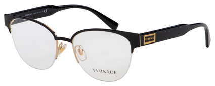 Versace Eyeglasses VE 1265 1433 53 Black/Gold Frame [53-17-140]