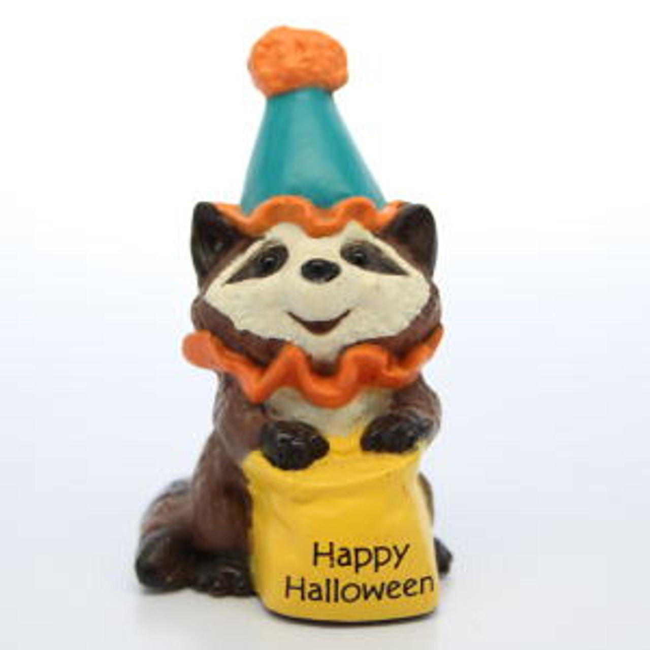 1989 Hallmark Raccoon Clown NEW Merry Miniature HALLOWEEN Never DisplayedQFM1575