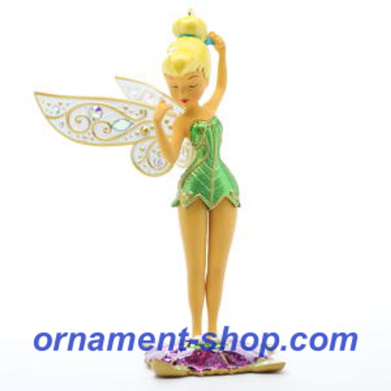 NEW 2012 Hallmark PEEKING PIXIE Disney/'s Peter Pan TINKER BELL Fairy Ornament