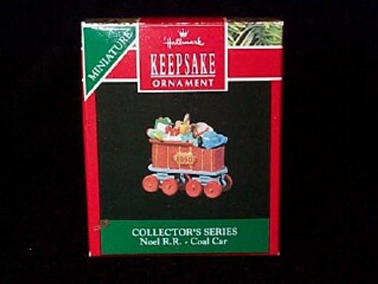 Coal Car Collector/'s Series #2 train car 1990 Hallmark miniature NOEL R.R