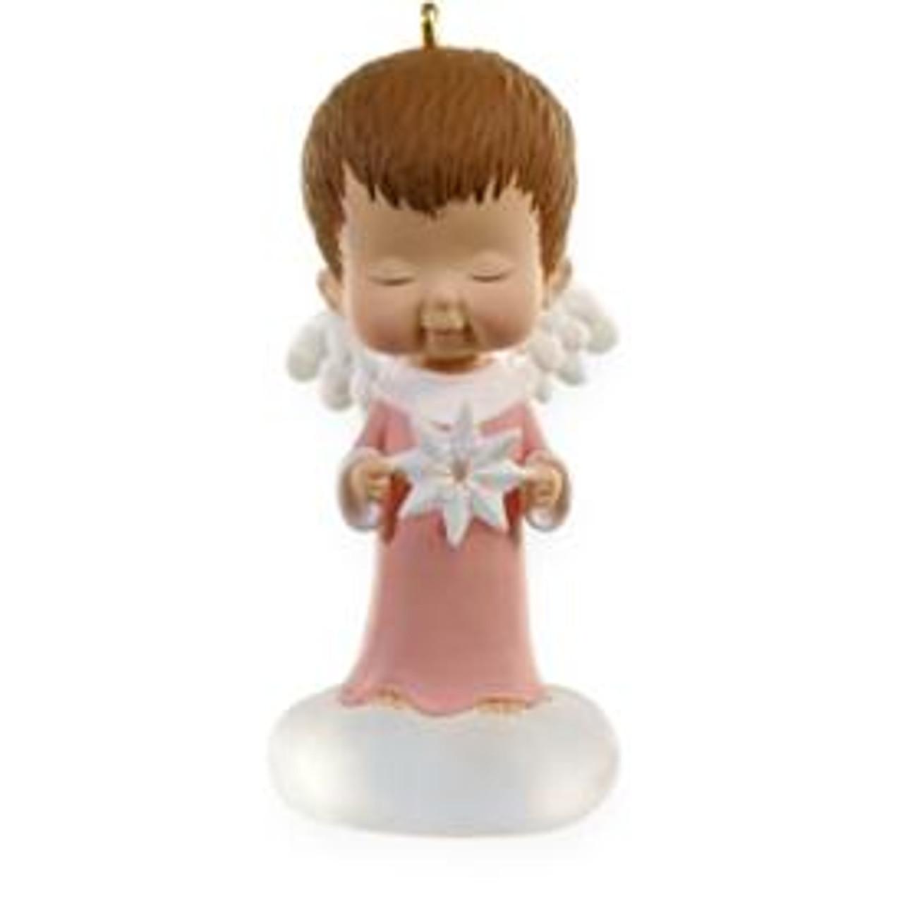 2012 HALLMARK KEEPSAKE CHRISTMAS ORNAMENT STERLING ROSE MARYS ANGELS NEW IN BOX