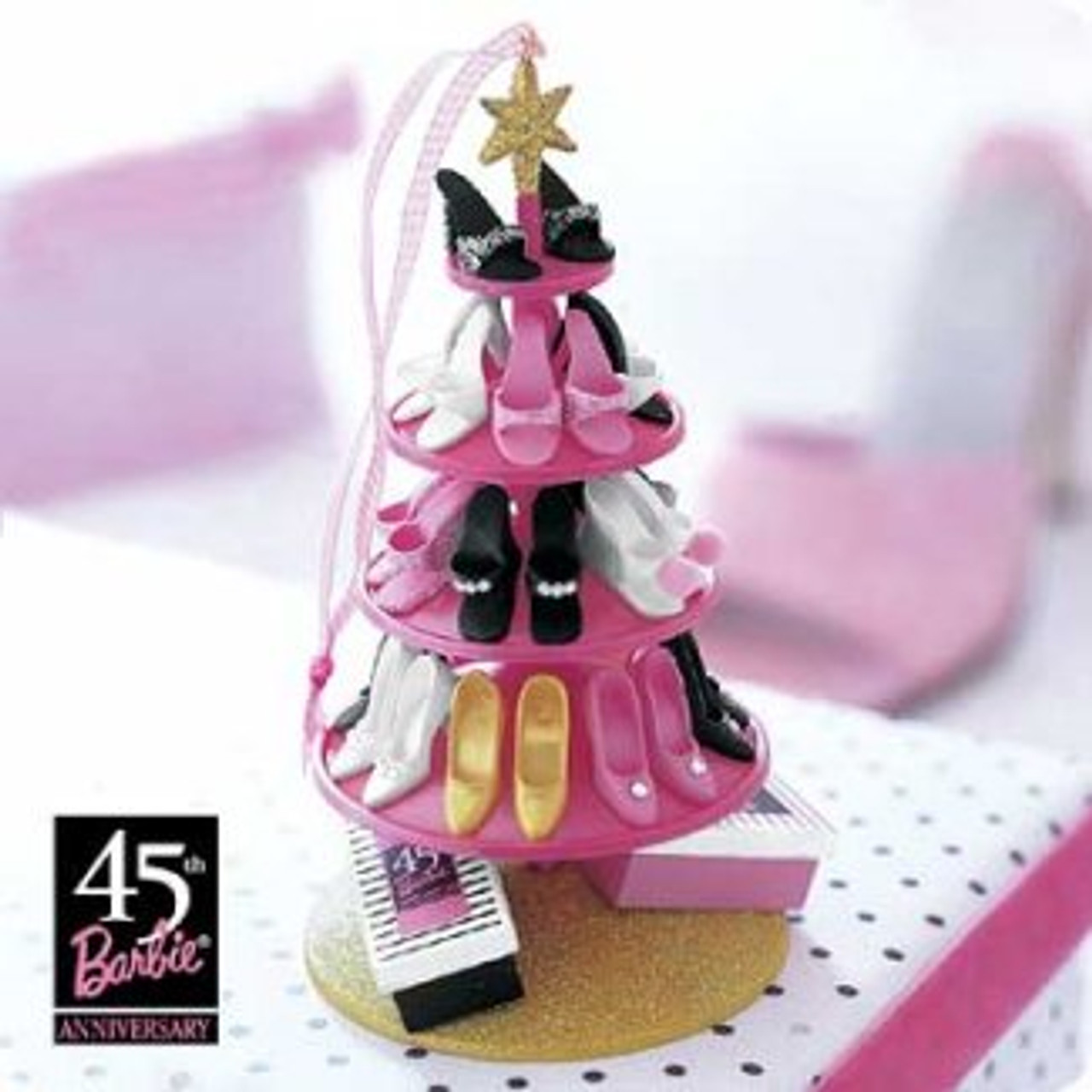 Christmas Shoe Tree.2004 Barbie Shoe Tree