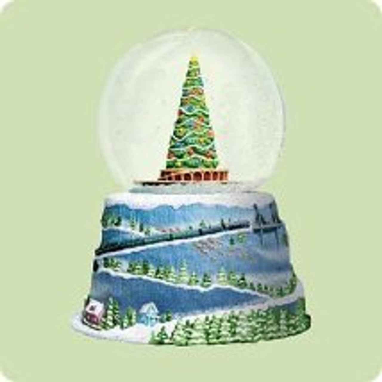Pleasant 2004 Polar Express Snow Globe And Train Hallmark Ornament The Funny Birthday Cards Online Elaedamsfinfo