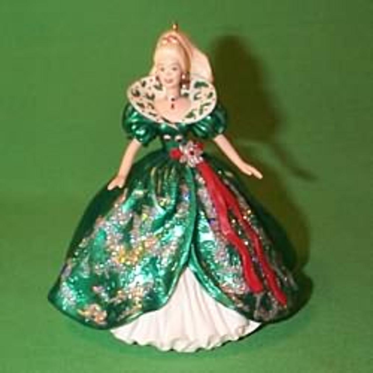 Barbie Christmas Ornament.1995 Barbie Holiday 3