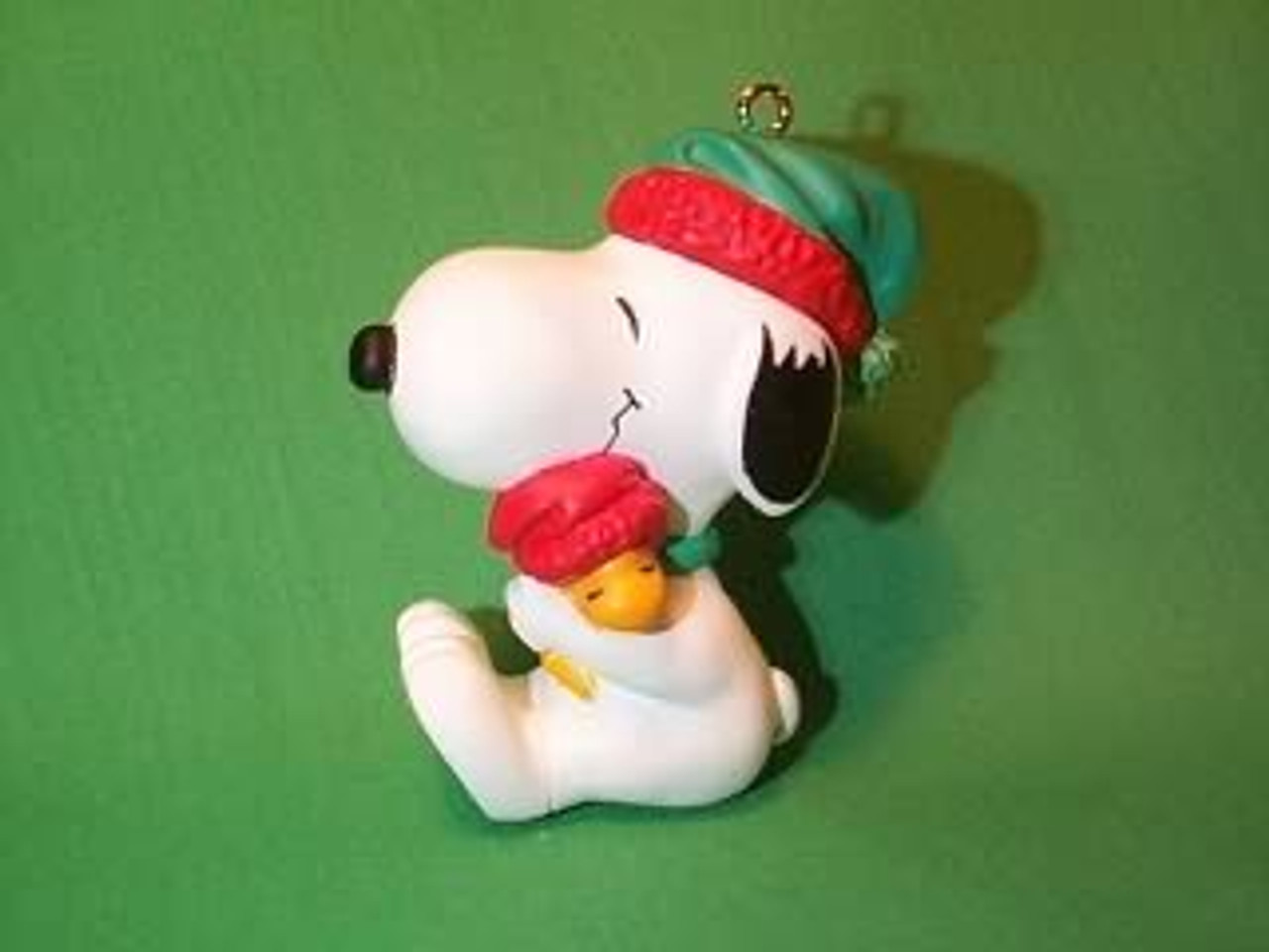 Snoopy And Woodstock Christmas Ornaments.1990 Snoopy And Woodstock Hug