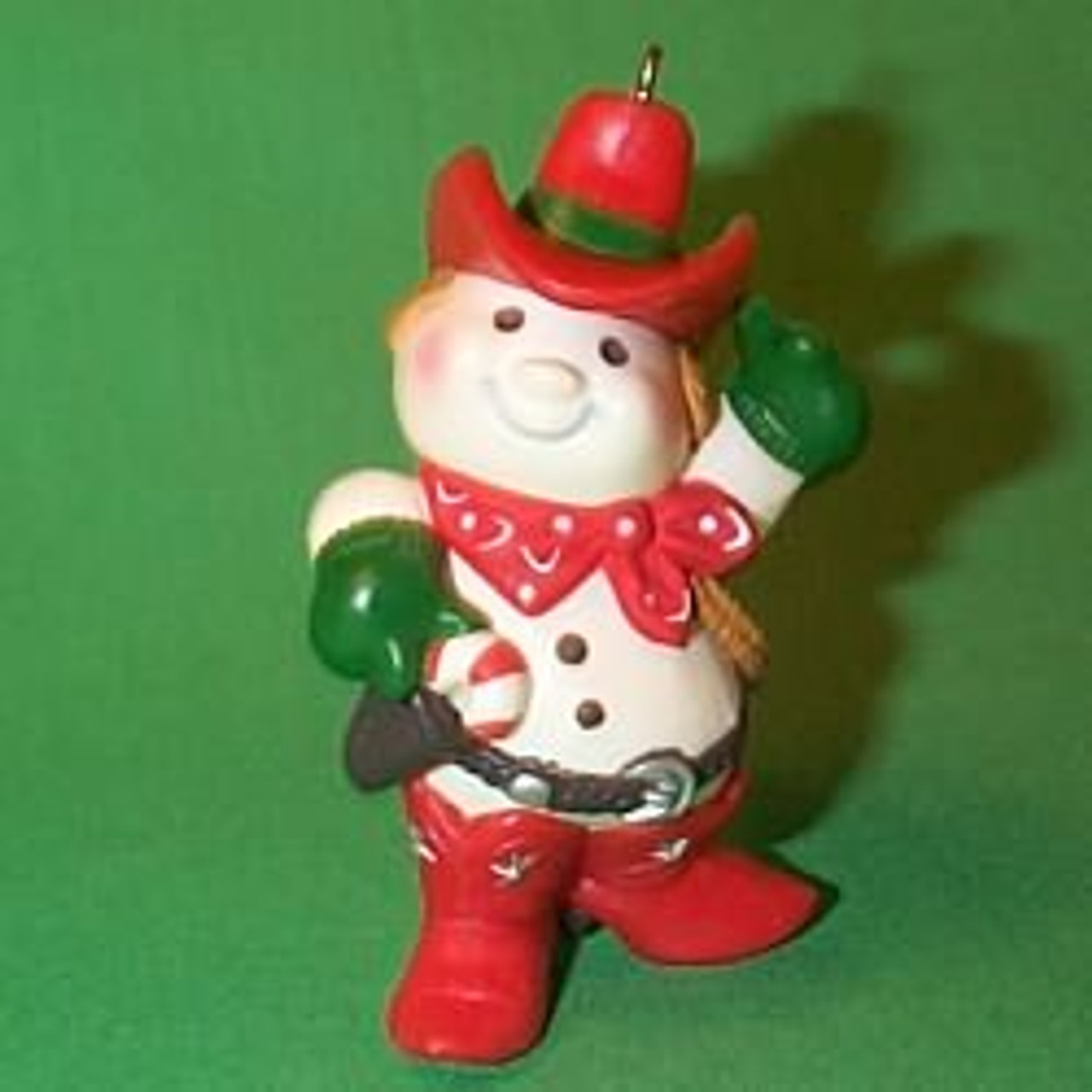 New Hallmark Ornament Cowboy Snowman 1982 QX4806
