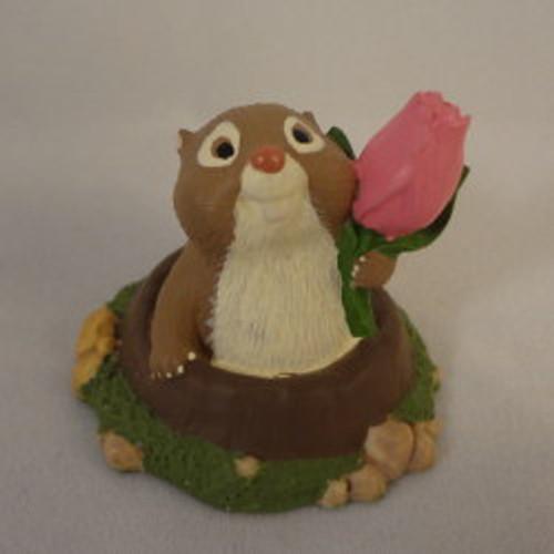 1995 Groundhog With Tulip