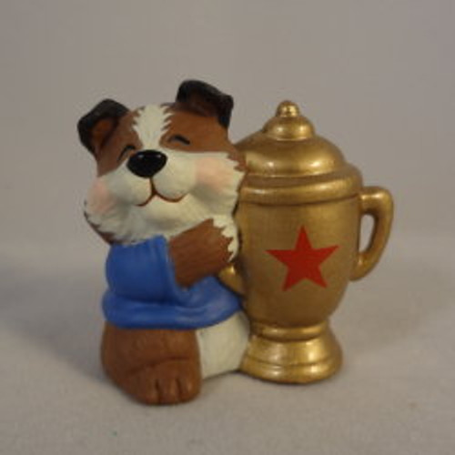1992 Dog With Trophy