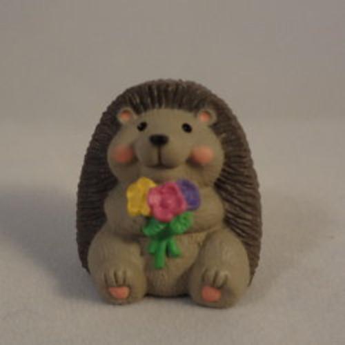 1992 Hedgehog With Flowers