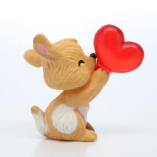 1993 Dog With Heart Balloon