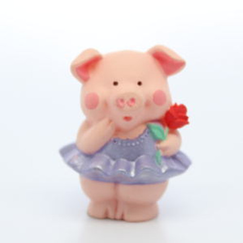 1992 Ballet Pig With Rose