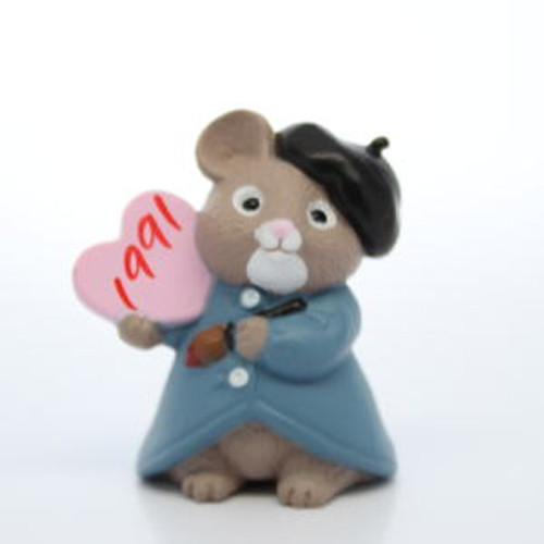1991 Artist Mouse With Heart