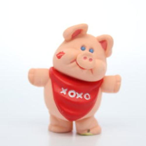 1990 Pink Pig With Bib