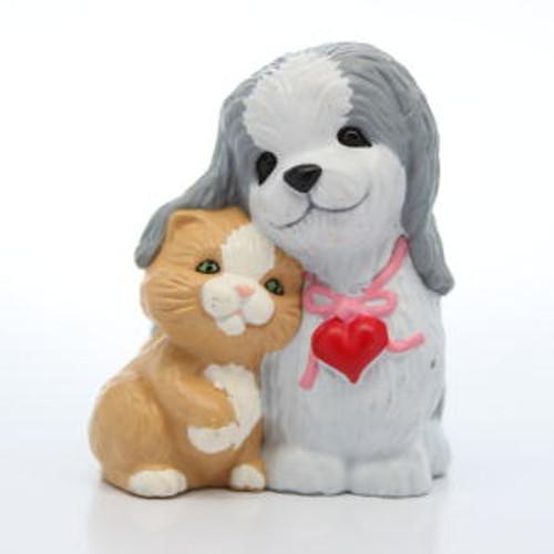 1989 Dog And Kitten Cuddling