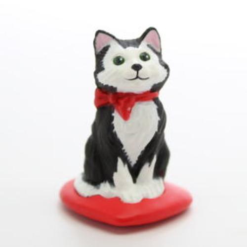 1989 Mini Kitten - Red Pillow