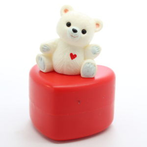 1985 Bear On Heart Container