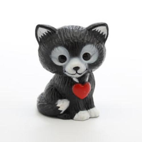 1985 Black Kitten With Heart
