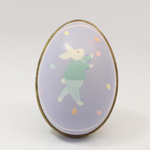 1988 Tin Egg - Bunny- Blue