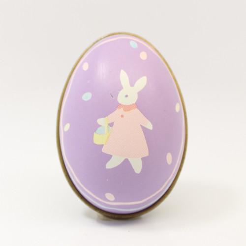 1988 Tin Egg - Bunny - Lavender