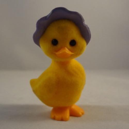 1984 Flocked Duck In Bonnet