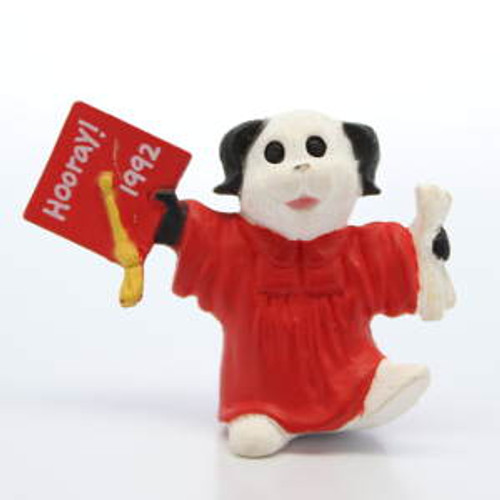 1992 Graduate Dog - Red Gown
