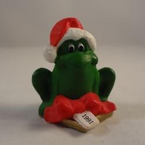 1991 Frog On Gift