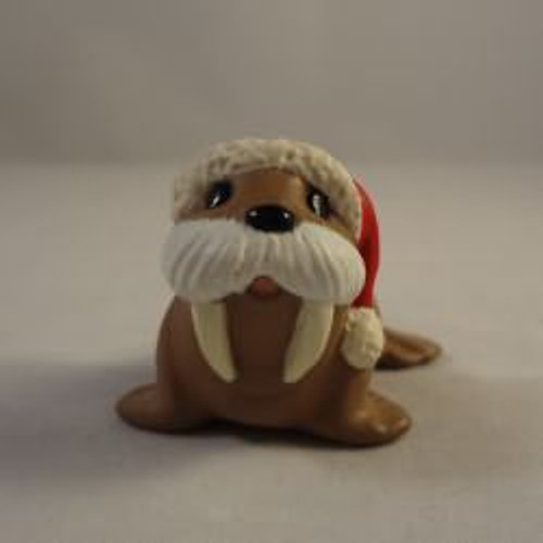 1990 Walrus With Santa Cap