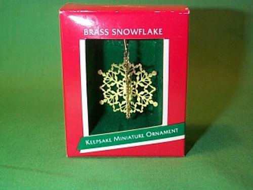 1989 Brass Snowflake