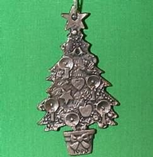 1990 O Christmas Tree - Pewter