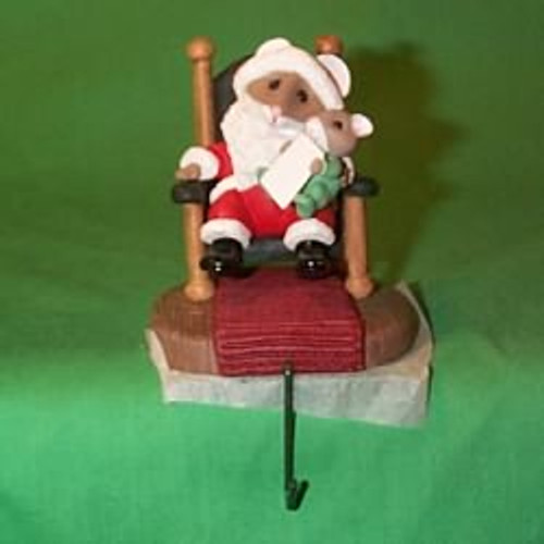 1992 Santa And Baby - Tt - Stocking Hanger