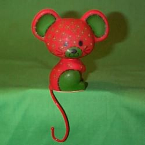 1977 Calico Mouse - Stocking Hanger