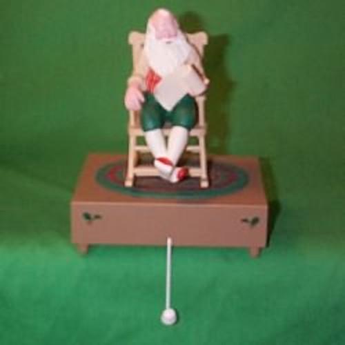 1990 Santa Musical - Stocking Hanger