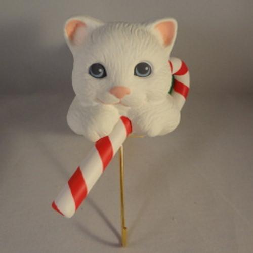 1988 Christmas Kitten - Stocking Hanger