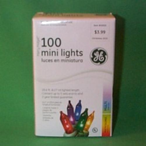 Light String - Multi Colored 100 Ct - Green Strand