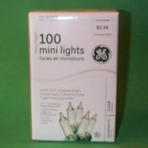 Light String - White 100Ct - Green Strand