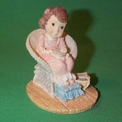 1989 Girl Doing Needlepoint