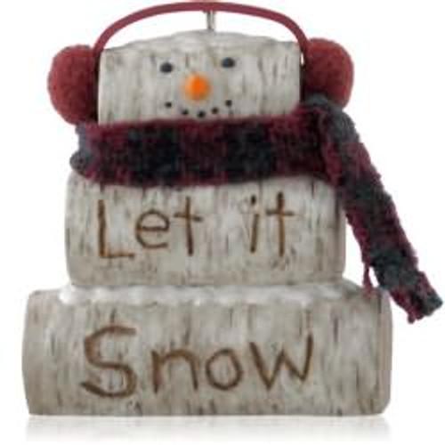 2014 Birch Log Snowman