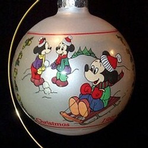 1982 Disney Winter Games 9th-Schmid Ornament