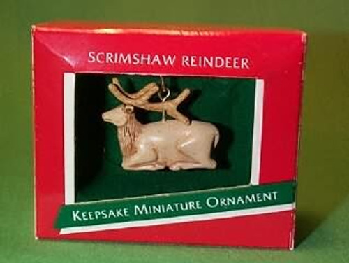 1989 Scrimshaw Reindeer