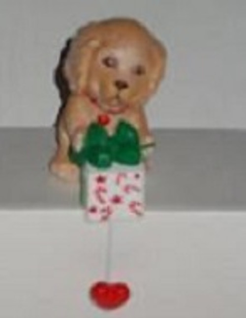 Puppy With Gift - Stocking Hanger