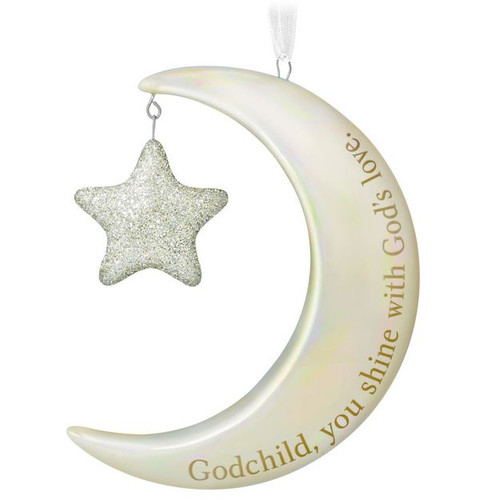 2017 Godchild, You Shine Moon and Stars Hallmark ornament (QHX1105)