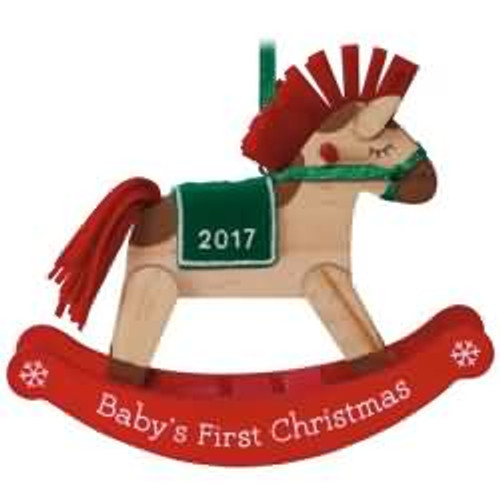 2017 Baby's 1st Christmas - Rocking Horse Hallmark ornament - QGO1235