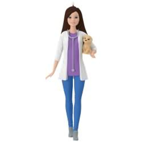 2017 Barbie - Veterinarian Barbie Hallmark ornament - QXI3342