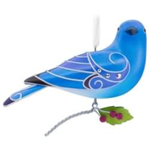 2017 Beauty of Birds #13 - Mountain Bluebird Hallmark ornament - QX9355
