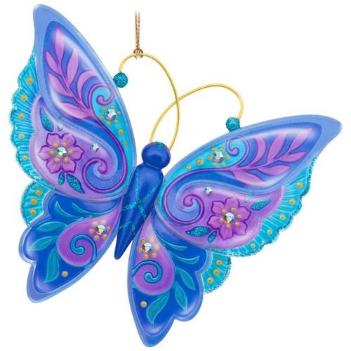 2017 Brilliant Butterflies #1 Hallmark ornament - QX9432
